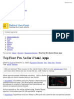 Top Four Pro Audio iPhone Apps