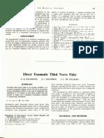 3.5 Direct Traumatic Third Nerve Palsy