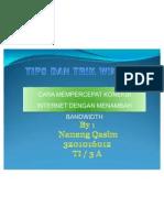 Tips n Trik Windows - Mempercepat Koneksi Internet
