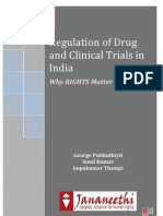 Regulation of Drug and Clinical Trials in India