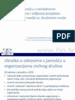 Odnosi s javnošću u nevladninim organizacijama i vidljivost projekata