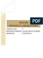 PHY350 Guideline