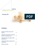 Deloitte's Annual  Business Traveller Survey 2012