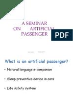 Artificial Passenger Final AP Ppt