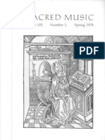 Sacred Music, 105.1, Spring 1978; The Journal of the Church Music Association of America