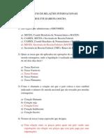 EXERC+ìCIO DE RELA+ç+òES INTERNACIONAIS