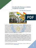 El Defensor de los Derechos Humanos en Bolivia - Un Informe Defensorial censurado