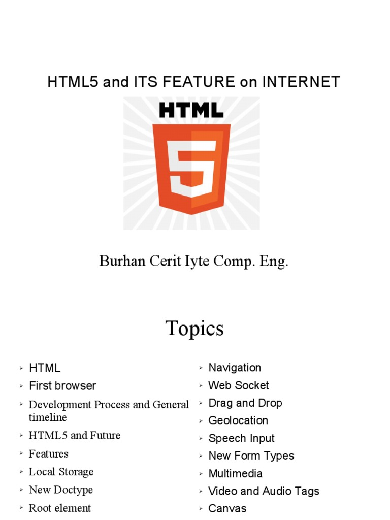 Html5 Feature of Internet | Html | Html Element