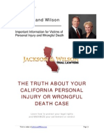 The Truth About Your California Personal Injury and Wrongful Death Case