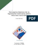 Conceptos básicos de la legislación boliviana sobre recursos naturales. Hernáiz, I. F. Tierra. 2002