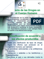 Efecto de Las Drogas en El Cuerpo Humano