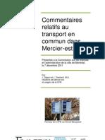 Johane Seguin's public transit commentary - Commentaires Mercier Est