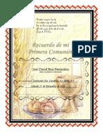 Diploma Primera Comunion
