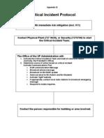 Critical Incident Protocol Appendix B