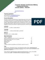CHE374 - Course Outline - 2011F