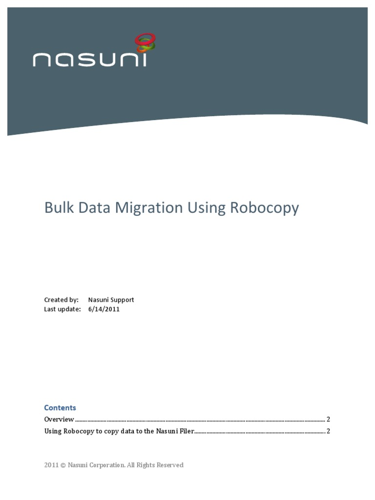 Bulk Data Migration Using Robocopy | Cache (Computing) | Computer File