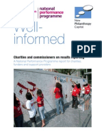 Well Informed. Charities and Commissioners on Results Reporting, A National Performance Programme Report for Charities, Funders and Support Providers