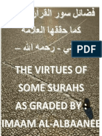 The Virtues of Various Chapters from The Noble Quran- Shaikh Al-Albaani
