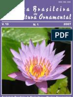 Revista Revista Brasileira de Horticultura Ornamental