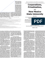 Corporations, Privatization and NMSU PRINT