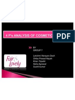 4 p Analysis of Cosmetic Product