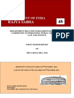 Draft Report - The Lokpal Bill (2011)