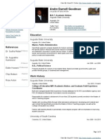 Andre Goodman VisualCV Resume