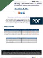 ValuEngine Weekly Newsletter December 9, 2011
