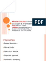 Wilson's disease - an update on diagnosis &