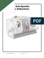 TL-15 Sub Spindle Operators Manual