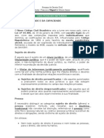 Miguel - Direito Civil - Da Pessoa Natural