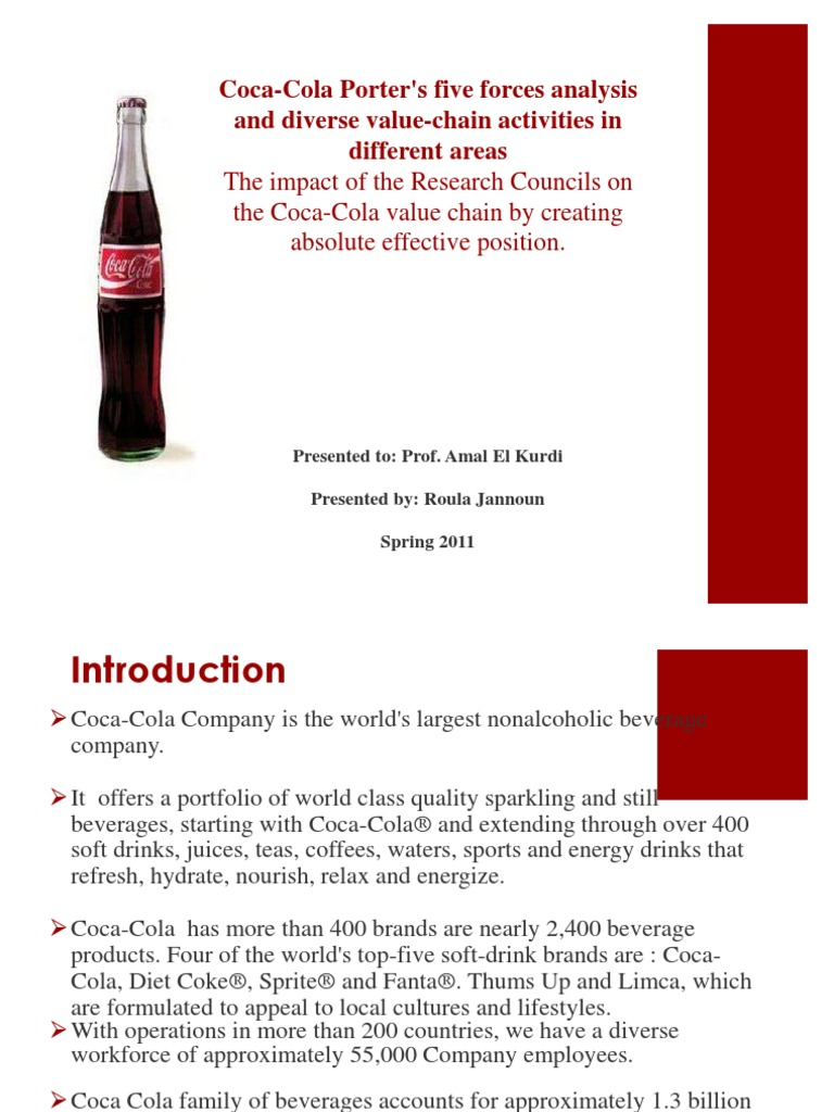value chain analysis for a soft drinks company Value chain analysis of coco cola - free download as word doc (doc / docx), pdf file (pdf), text file (txt) or read online for free.