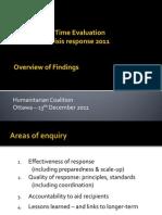 DEC-HC Real Time Evaluation