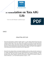 Presentation on Tata AIG Life