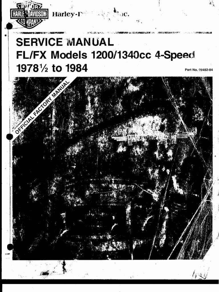 19785 1984 fl fx service manual fandeluxe Choice Image