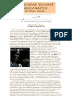 Miles Davis Jazz Trumpet Solo Transcription and Analysis by Steve Khan