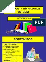 SESION N°3 TECNICAS DE ESTUDIO