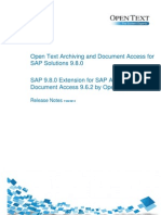 01 - Open Text Archiving and Document Access for SAP Solutions 9.8.0 Release Notes
