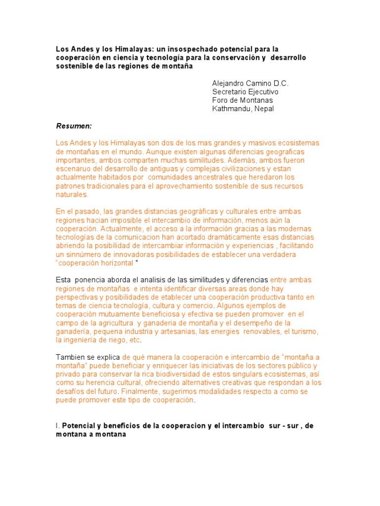 Un untapped potencial por cooperación en ciencia y tecnología por ...