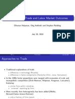 Helpman Itskhoki and Redding 2011 Trade and Labor Market Slides