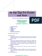 28 Top Tips for Exams and Tests