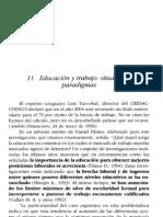 12. Educación y trabajo. Situación y paradigma