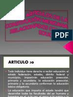 ARTICULOS DE LA CONSTITUCIÓN MEXICANA  RELACIONADOS CON LA