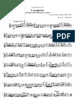 Handel Recorder Sonata in c Major i Larghetto