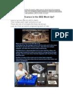 SEG Mock Up Verses SEG Prototype - Stages of R&D