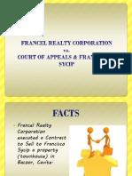 Francel Realty Corporation vs. Sycip