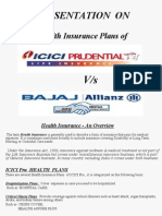 difference between life insurance plans of ICICI Pru & bajaj allianz