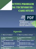 Problem Solving Techniques-case Study
