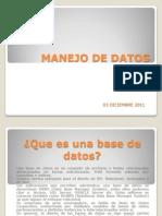MANEJO DE DATOS