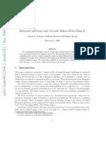 Joseph D. Masters, William Menasco and Xingru Zhang- Heegaard splittings and virtually Haken Dehn filling II